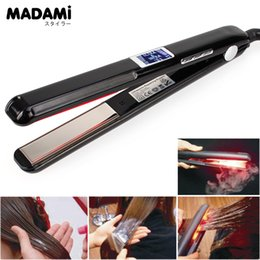 ultrasonic infrared iron Australia - Madami LCD Display Ultrasonic Infrared Hair Care Iron Keratin Argan Oil Recover Hair Damaged Smoothly Hair Treatment IronMX190925