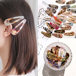 Woman Fans Australia - Free Fan 2019 Korea Waterdrop Acrylic HairClip Tin Foil Sequins Hairpins Vintage Girl Women Hair Accessories Barrette Headband