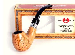 Vente en gros Tuyau de filtre de nettoyage amovible en résine gravée gravé, nouveau fumeur incurvé, portable sans fumée