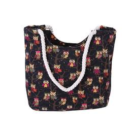 $enCountryForm.capitalKeyWord UK - good quality 2019 Cartoon Owl Printed Shoulder Bag Women Large Capacity Female Shopping Bag Canvas Handbag Summer Beach Bag Lady