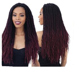 $enCountryForm.capitalKeyWord Australia - Hot selling fashion ombre color Crochet braid hair extensions Faux Locs curly hair 18 inch for Afro braid hair 18PCS Lot