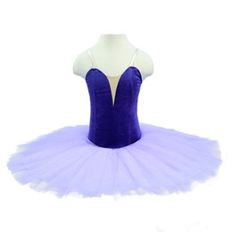 red tutus for women Australia - free shipping Lilac Girls velvet Professional Ballet Tutu without decoration For Women performance Show Stage Classical Tutu Costume Purple