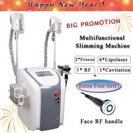 graisse machine de congélation taille amincissant la cavitation machine rf lipo laser lipo réduction 2 têtes de congélation peuvent fonctionner en même temps