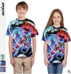 Europe Brand T Shirts Australia - Hot style super saiyai digital printed children's short-sleeved t-shirts with loose sweatshirts in Europe and America