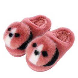 cute slippers for kids Australia - Winter Shoes for Kids Home Slippers Boys and Girls Baby Cute 3D Koala Shape Warm Shoes Girls Thickening Children Slippers 1-12 Y