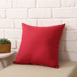 $enCountryForm.capitalKeyWord Australia - DHL Home Sofa Throw Pillowcase Pure Color Polyester White Pillow Cover Cushion Cover Decor Pillow Case Blank christmas Decor Gift