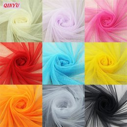 easter table runners Australia - Wedding Decoration 22mX15cm Organza Sheer Gauze Table Runner Tissue Tulle Roll Spool Craft Party Crystal Chiffon 6zSH759