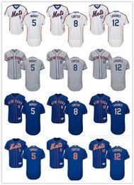 e5fa23d83 custom Men women youth Majestic NY Mets Jersey #5 David Wright 8 Gary  Carter 12 Juan Lagares Home Blue Kids Baseball Jerseys