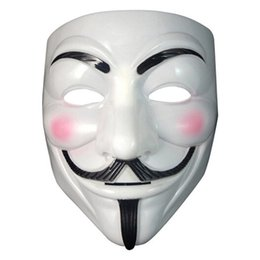 Pvc Costumes Women UK - 1Pc Anonymous Guy Fawkes Fancy Dress Adult Costume macka mascaras halloween The V for Vendetta Party Cosplay masque Mask Gifts
