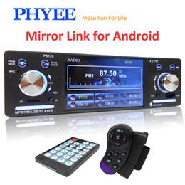 Head unit car online shopping - 1 Din Car Radio Mirror Link HD MP5 Player Bluetooth Handsfree Stereo USB TF ISO Steering Wheel Control quot Head Unit PHYEE BT