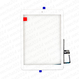 Wholesale New Touch Screen Glass Panel with Digitizer Home Buttons for iPad th A1893 A1954 free DHL