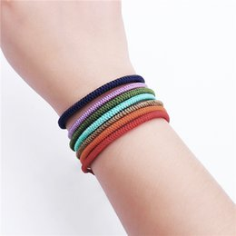 Accessories lucky online shopping - 201910 Newest Design Color Yoga Braided Bracelet Handmade Braided Rope Lucky Bracelets Fashion Charm Jewelry Accessory Men For Women M617A