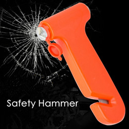 Tool break car window emergency online shopping - Car Safety Hammer Emergency Escape Tool Tip Lifesaving Hammer Broken Windows Multi Function Car Combo Safety Hammer HHA271