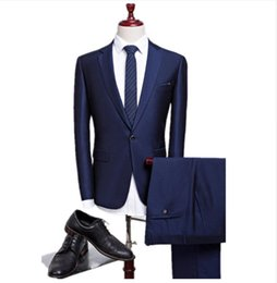 2582e34ad7f Latest Slim Fit Best Tailored Wedding Navy Blue Men Blazer Business Tuxedo Mens  Grooming Dinner Prom Suits Coat Pant C19041601