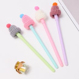 stationery Australia - 40 pcs Gel Pens Cartoon hat black colored kawaii gift gel-ink pens pens for writing Cute stationery office school supplies