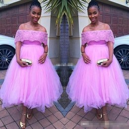 $enCountryForm.capitalKeyWord Australia - 2020 Pink Pretty A Line Sexy South African Prom Dresses Lace Off the Shoulder Banquet Evening Party Gown Custom Made Cheap