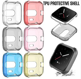 Wholesale Smart Watches Australia - For Fitbit Versa Lite Smart Watch Protective Case TPU All Inclusive Transparent Anti-fall Scratch-proof Ultra-slim Cover