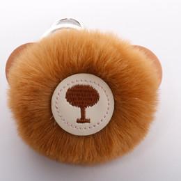 $enCountryForm.capitalKeyWord UK - Cute PU bear keychain imitation rabbit hair ball pendant Hot lady bag pendant creative gift H016