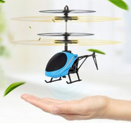 Toy Flying Helicopters NZ - Mini RC drone Flying RC Helicopter Aircraft dron Infrared Induction LED Light Remote Control drone dron Kids Toys free shipping