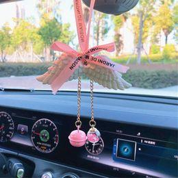 $enCountryForm.capitalKeyWord Australia - 3D Angel Wings car perfume pendant Auto Hanging Perfumed Fragrance Interior Ornament Air Freshener Lasting Fragrance