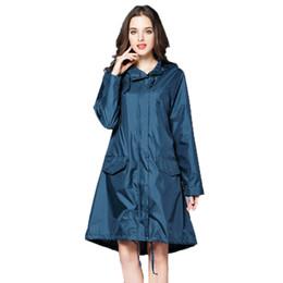 $enCountryForm.capitalKeyWord UK - 6 Colors Waterproof Raincoat Women Hooded Long Rain Jacket Breathable Rain Coat Poncho Outdoor Rainwear