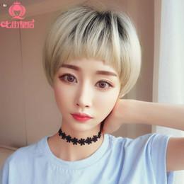 $enCountryForm.capitalKeyWord Australia - Wig Factory Wig Woman Short Hair Bobo Head Shave Handsome Wig Set