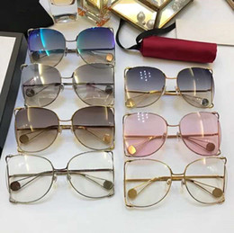 big frame clear lens glasses Australia - Women Oversized Sunglasses Brand Designer 0252S Big Frame Sunglasses for Women Pearly Summer Style UV400 Protection Sun Glass Come With Case