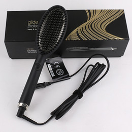 Wholesale Glide Hot Hair Brush One Step Hair Dryer & Styler &Volumizer Multi-functional Straightening & Curly Hair Brush with Negative Ions