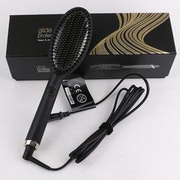 venda por atacado Escova Glide escova de cabelo Hot One Step Secador de cabelo Styler Volumizer Multi-funcional endireita cabelo encaracolado com íons negativos