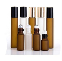 $enCountryForm.capitalKeyWord Australia - 5 x 3ml 5ml 10ml Frost Clear Amber Roll On Roller Bottle for Essential Oils Refillable Perfume Bottle Deodorant Containers