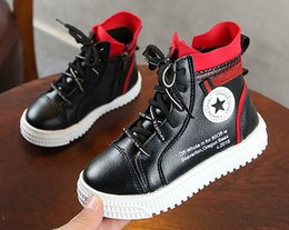 Baby Shoes Red White Australia - Spring And Autumn Baby Boy And Girl Sneaker Athletic Shoes Floater Shoes Fashion Footwear Running Shoes Black+White+Red 3Pair