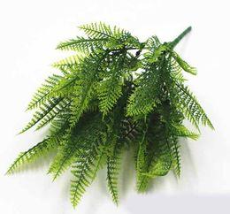 $enCountryForm.capitalKeyWord Australia - Potted Flower Planting Material for Green Planting of Ferns 7-fork Plastic Persian Grass Fern
