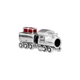 $enCountryForm.capitalKeyWord Australia - 2018 Winter New Authentic 925 Sterling Silver Beads Red Enamel Christmas Train Charm Fit Pandora Bracelet Bangle DIY Jewelry