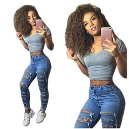 $enCountryForm.capitalKeyWord Australia - Plus Size jeans woman Summer 2019 High Waist Streetwear Women Denim Skinny Ripped Pants For Outdoor Party Time women jeans