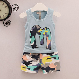 $enCountryForm.capitalKeyWord Australia - Baby Newborn Clothing Set Summer Sleeveless Top and Short Pants 2 Pieces for Kids Baby Boy Clothes Sets Outfit Camouflage Fashion Boys