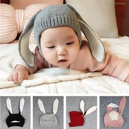 $enCountryForm.capitalKeyWord Australia - New Winter Baby Rabbit Ears Cap Knitted Hat Infant Bunny Caps Children Wool Hats Photography Props Infant Warm Beanies