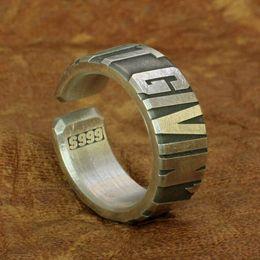 $enCountryForm.capitalKeyWord Australia - LINSION Huge Heavy 10mm Width 999 Sterling Silver Open Size Mens Biker Punk Ring 9Y018