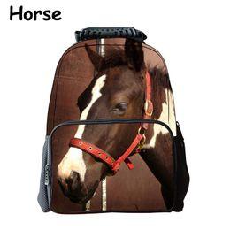 b58d85f31c iMaySon Children Schoolbag 3D Animal Coffee Horse Cute Kid Unisex Boy Felt  Backpack Printing Shoulders Bags School Girls Teenager Retail