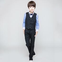 Boys Fashion Formal Suits Australia - Fashion Flower Boy Suit for Weddings Prom Party 3T-14Y Children Slim Fit Suit Sets Boys Tuxedo Formal Vest Pants Classic Costume