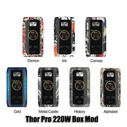 Dual pro batteries online shopping - Authentic Think Vape Thor Pro W Box Mod Dual Battery VW TC Mod For Thread Tank Genuine