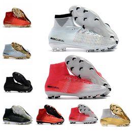 d860d6e8f 2019 High Top mens Soccer Shoes Mercurial CR7 Superfly V FG Boys Football  Boots Magista Obra 2 Women Youth Soccer Cleats Cristiano Ronaldo