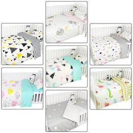 Newborn Bedding Australia - Infant Bedding Newborn Quilt Cover Set Children's Cute Cartoon Quilt Cover Baby Bedding Three-piece Set