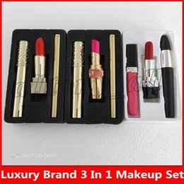Lipstick c online shopping - 2019 Hot Brand Make Up Kit Mascara Lipstick Eyeliner in SET styles Set A B C Cosmetics