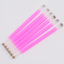 Discount magnetic nail pen Convenient Double Headed Rapid Magnet For Cat Eyes Nail Gel Magnetic Pen Tools Polish Nail Art Stereotype Stick 3D Line Strip