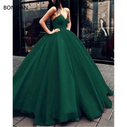 Discount formal gown brush train - Prom Dresses A-Line V-neck Bodice Corset Organza Sweep Brush Train Sequins Dresses Long Formal Fancy Evening Dress Gowns