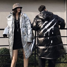 $enCountryForm.capitalKeyWord NZ - PinkStar 2018 Chinese fashion brand Claw mark pattern Jackets street casual coats Man women Silver Bright parka Couple Hip hop Cotton outfit