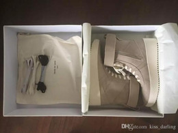 Net top shoes online shopping - FEAR OF GOD Military High Top Outdoor Boots Sneakers Black Suede Gum Grey Nubuck Boot Fog Jerry Lorenzo Kanye black Nylon running shoes