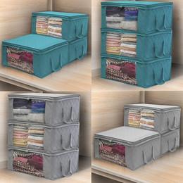 $enCountryForm.capitalKeyWord Australia - New Fashion Home Foldable Zipper Storage Bags Clothes Bedding Pillows Quilt Organizer Fashion Household storage collection equipment