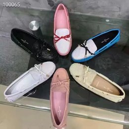 Best Nude Flats Canada - 18ss Flats shoes women LUXURY BRAND casual shoes leather Fisherman's shoes Size 35-40 Woman best gif
