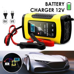 $enCountryForm.capitalKeyWord Australia - Full Automatic Car Battery Charger 110V To 220V To 12V 6A LCD Smart Fast for Auto Motorcycle Lead-Acid Batteries Charging